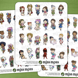 Miss Moss Minis Sticker Sampler v2.0 - Miss Moss Gifts