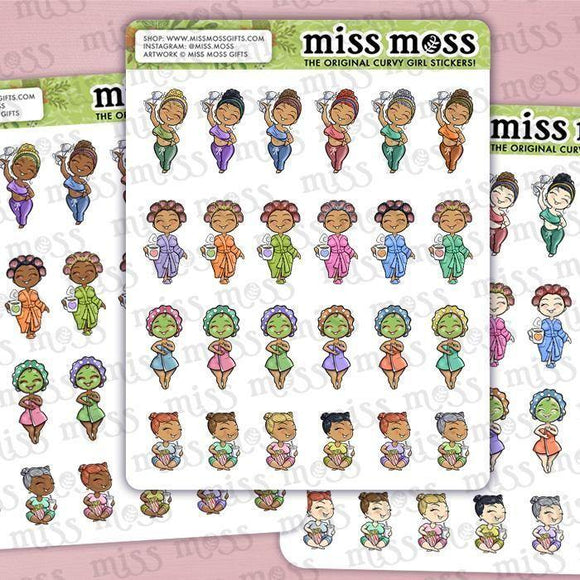 Mini Self Care Planner Stickers - Miss Moss Gifts
