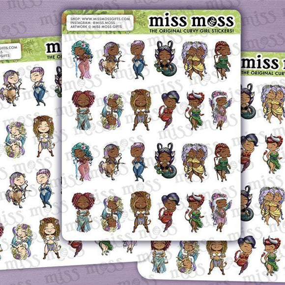 Mini Zodiac Babe Planner Stickers - Miss Moss Gifts
