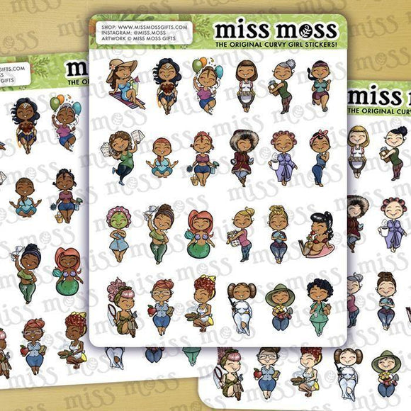 Miss Moss Minis Assorted Sampler Stickers v1.0 - Miss Moss Gifts