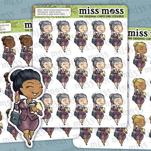 Working Business Boss Girl Planner Stickers - Miss Moss Gifts