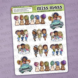 Mini Group Assortment Sticker Sampler - Miss Moss Gifts