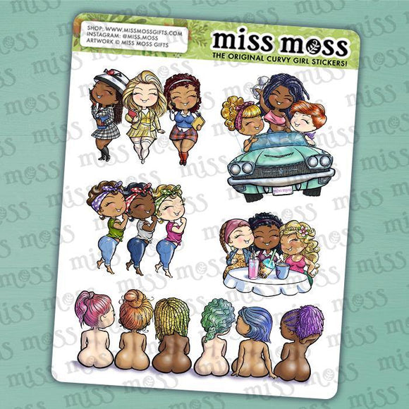 Group Assortment Sticker Sampler - Miss Moss Gifts