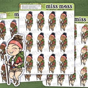Hiking Hiker Girl Nature Lover Planner Stickers - Miss Moss Gifts