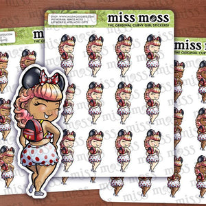 Mouse Theme Park Girl Planner Stickers - Miss Moss Gifts
