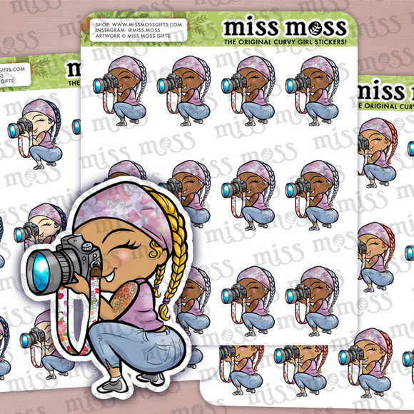 Photographer Girl Planner Stickers - Miss Moss Gifts