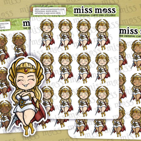 She-Ra Superhero Stickers - Miss Moss Gifts
