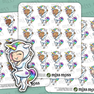 Unicorn Onesie Planner Stickers - Miss Moss Gifts