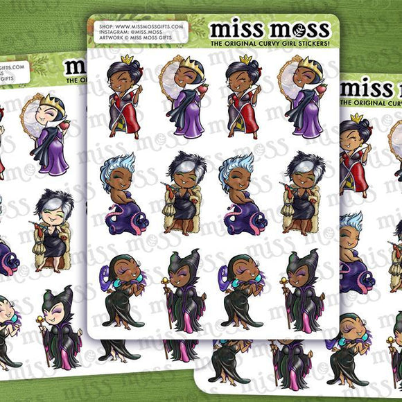 Curvy Villain Planner Stickers - Miss Moss Gifts