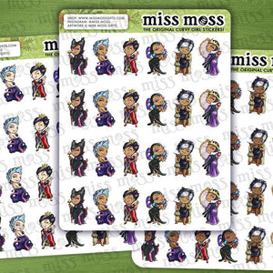 Mini Curvy Villain Planner Stickers - Miss Moss Gifts