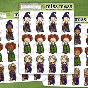Halloween Witches Assortment Sampler Stickers - Miss Moss Gifts