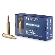 . PPU Rifle Line, .223 Remington, SP, 55 Grains, 20 Rounds