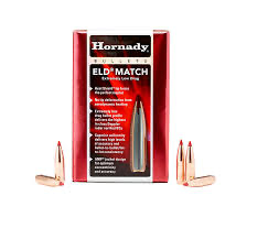 Hornady 22cal .224 dia 75gr ELD Match Projectiles Box of 100