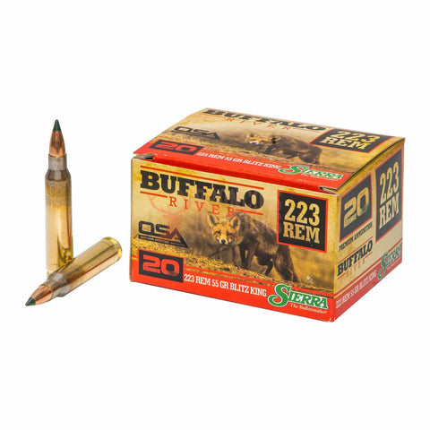 Buffalo River 223 REM 55gr Blitzer King.
