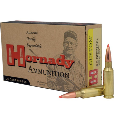 Hornady 6.5 Grendel 123gr SST Custom Rifle Ammunition Box of 20
