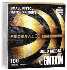 FEDERAL PREMIUM SMALL PISTOL MATCH PRIMERS X 10