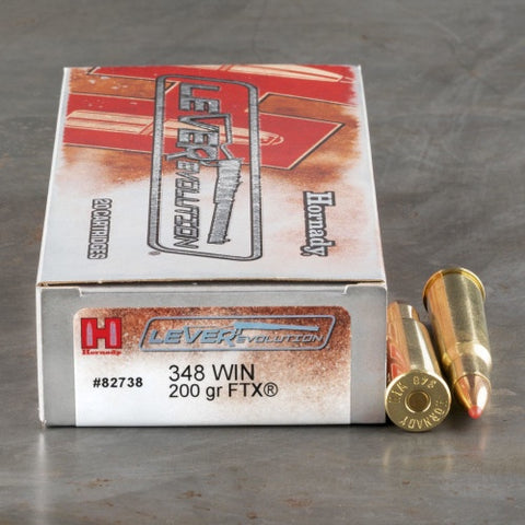 Hornady 348 Win 200gr FTX LEVERevolution Ammunition Box of 20
