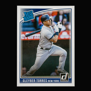 Gleyber Torres 2018 Panini Donruss Baseball Rated Rookie Card New York Yankees Duval Sports Cards