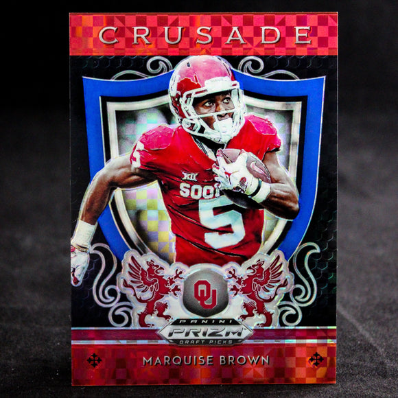 Marquise Brown 2019 Prizm Draft Red White Blue Prizms Rookie Crusade Sooners Ravens Football Cards - Duval Sports Cards