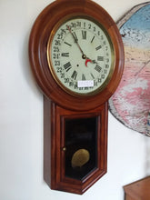 Walnut Calendar Clock