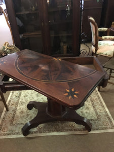 Mahogany Inlaid Game Table