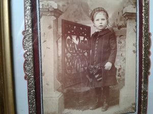 Framed Victorian Girl Photo
