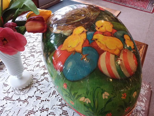 Huge Paper Mache German Candy Container