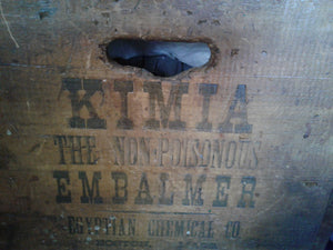 Antique Egyptian Chemical Co.  Embalmers Bottle Box