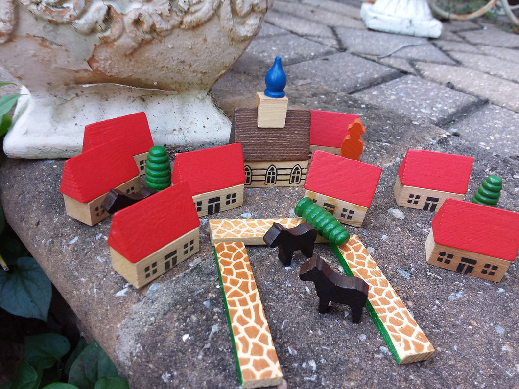 German Village Erzgebirge Toy Set