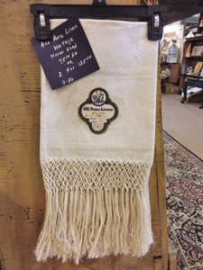 Linen Quest Towels With Fringe