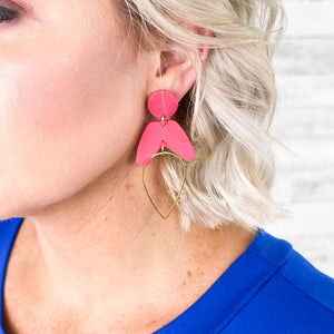 More Magenta Clay Earrings