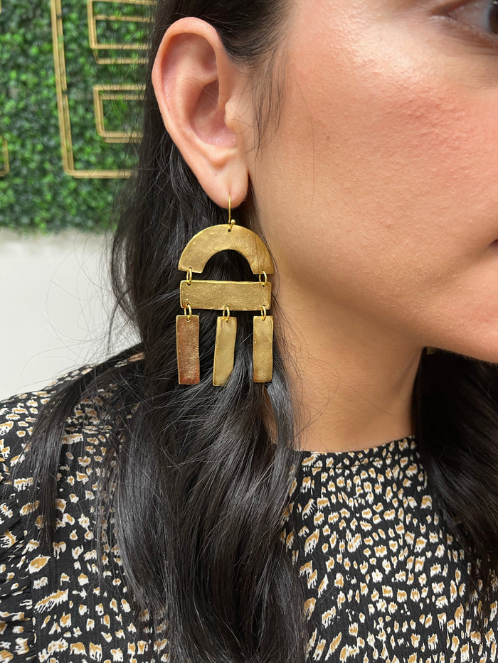 SS Column Earrings