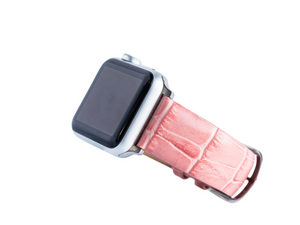 Coral Croc Apple Watch Band