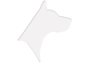 Houndstooth Dog Logo