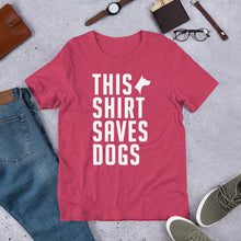 SAVES DOGS Short-Sleeve Unisex T-Shirt - Houndstooth Grooming Company