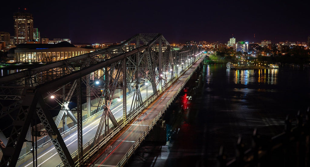 Alexandra Bridge from Nepean Point, Ottawa - Taken with a Sony a7 II - Smartphone vs. Camera - Photo Redesign