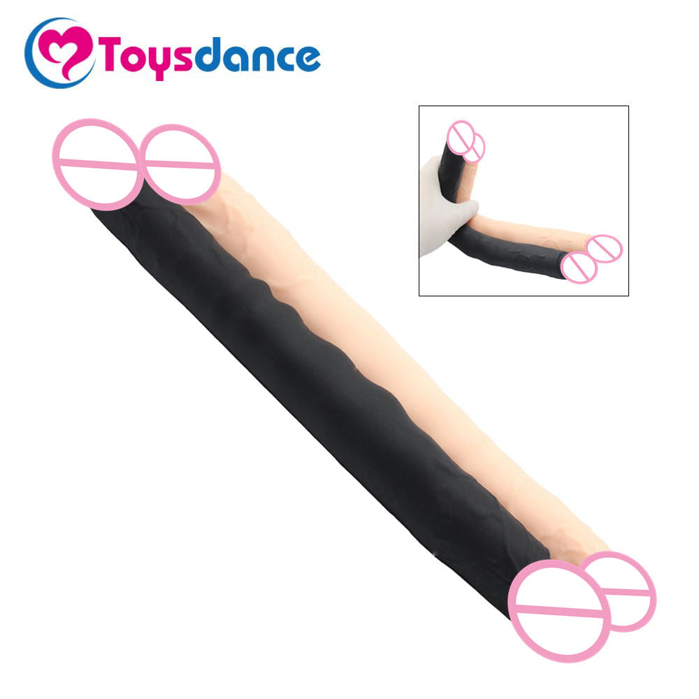 Toysdance 30CM Real Silicone Double Head Dildo