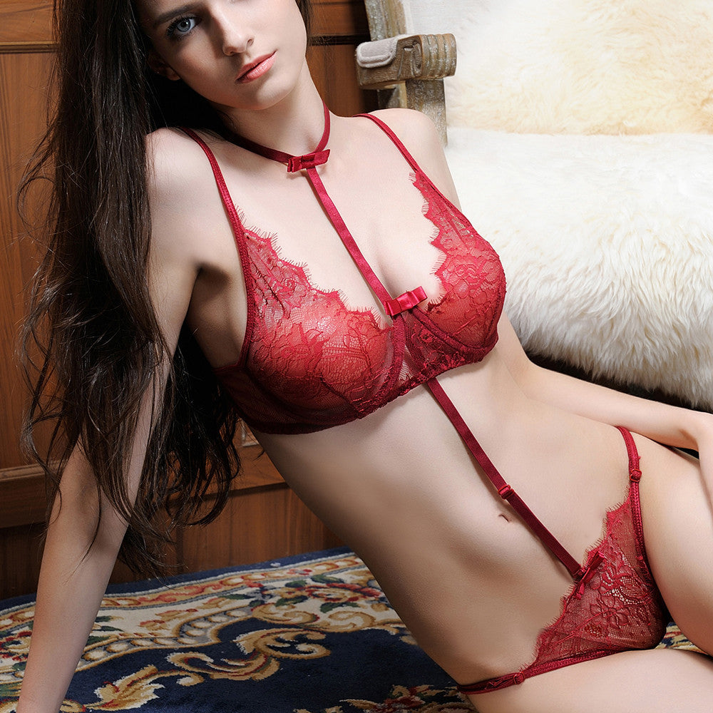 Women Sexy Lingerie Lace Set Underwear