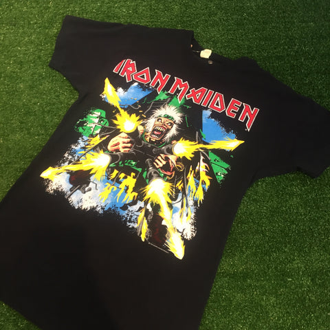 "'90 Iron Maiden ""Shoot The F******"" T-Shirt - F as in Frank TO"