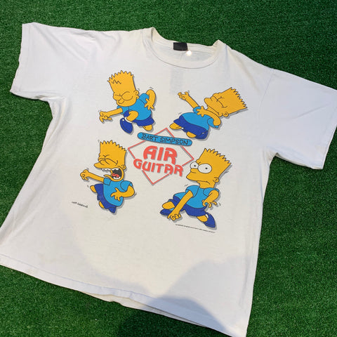 "1990 Bart Simpson ""Air Guitar"" T-Shirt - F as in Frank TO"