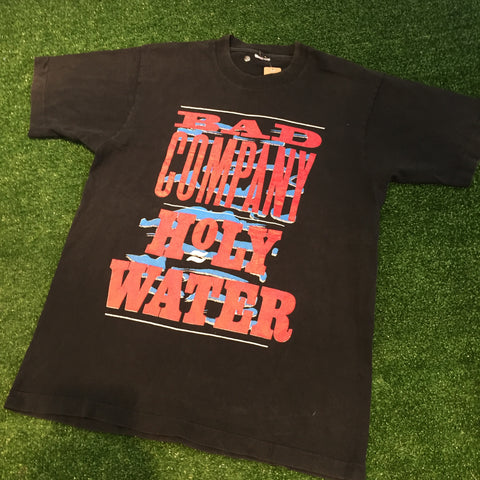 "'91 Bad Company Holy Water ""Damn Yankees"" T-Shirt - F as in Frank TO"