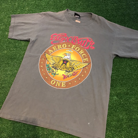 "'98 Aerosmith ""Aeroforce One"" T-Shirt - F as in Frank TO"