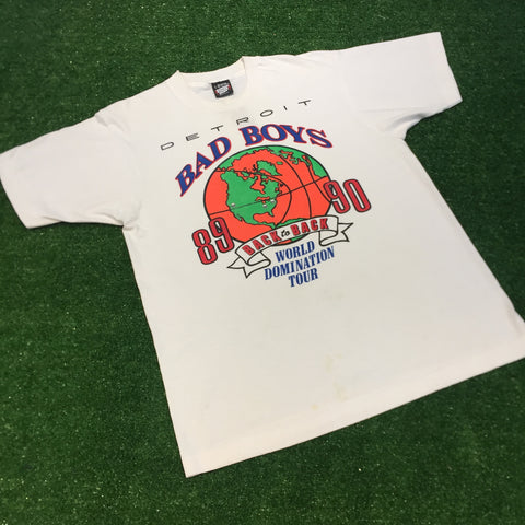 "1989/1990 Detroit Pistons ""Back to Back - Bad Boys"" T-Shirt - F as in Frank TO"