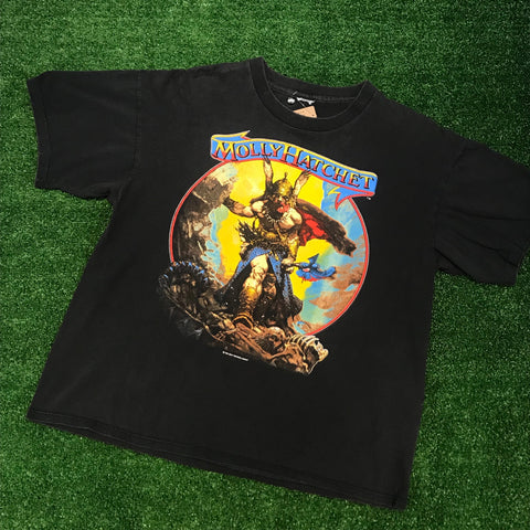 "1988 Molly Hatchet ""Hell Yeah"" T-Shirt - F as in Frank TO"