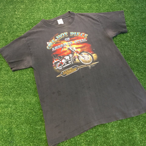 "1988 Harley Davidson ""One Hot Piece of American Steel"" T-Shirt - F as in Frank TO"