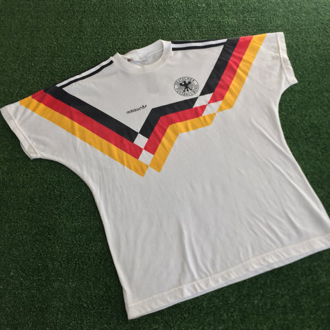90s Deutscher Fussball-Band Adidas T-Shirt - F as in Frank TO