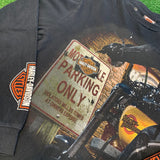"90s Harley Davidson ""Motorcycle Parking Only"" Long Sleeve - F as in Frank TO"
