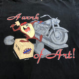 "'93 Harley Davidson ""Work of Art Taz"" T-Shirt - F as in Frank TO"