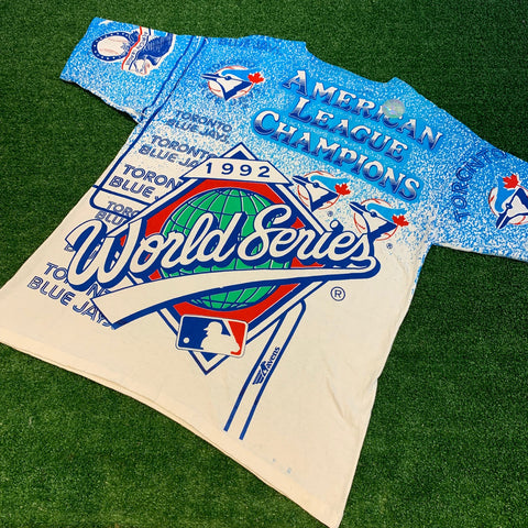 '92 Blue Jays World Series All Over Print T-Shirt - F as in Frank TO