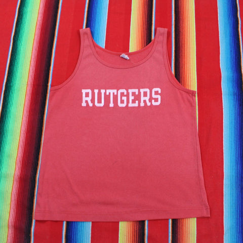 1980s Champion Rutgers University Tanktop - F as in Frank TO